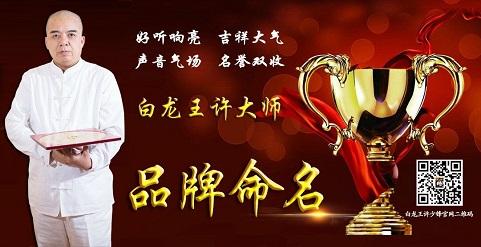 品牌起名:风水大师白龙王许道长产品起名